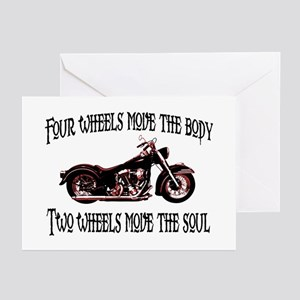Two Wheels Move Greeting Cards