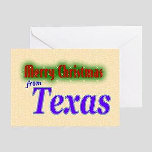 Texas Christmas Card Greeting Cards (Pk of 20)
