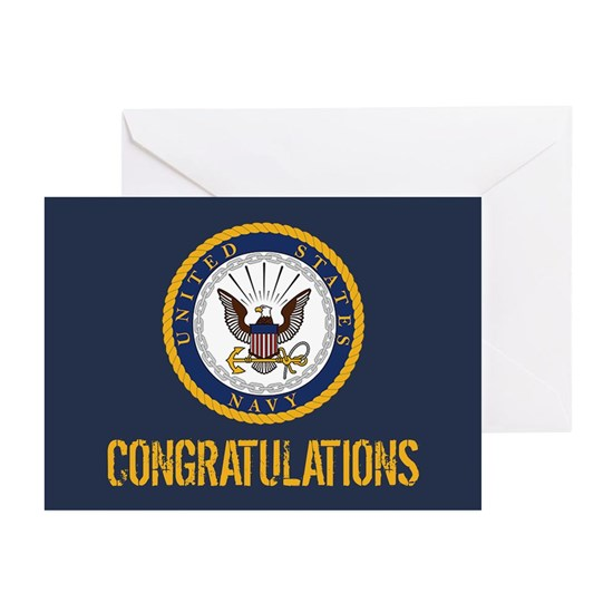 U.S. Navy: Congratulations (Blue & Gold)