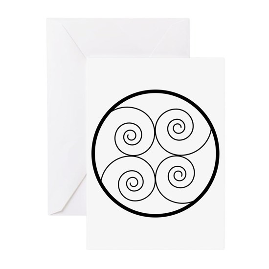 Black Spiral Greeting Cards (Pk of 20) Black Spiral