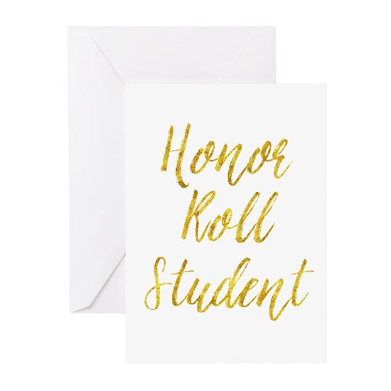 Honor Roll Student Gold Faux Foil Metallic Glitter