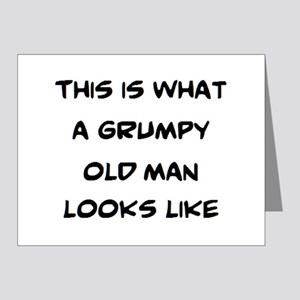 grumpy old man looks like Note Cards (Pk of 10)