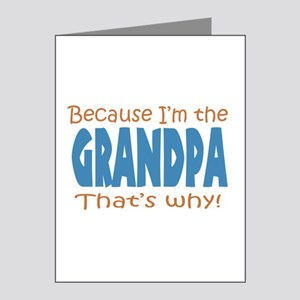 Because I'm the Grandpa Note Cards (Pk of 10)