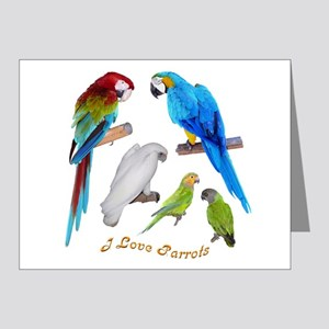 I love Parrots Note Cards (Pk of 10)