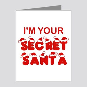 Secret Santa Note Cards (Pk of 10)