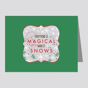 Magical When It Snows FB Note Cards