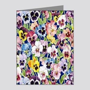 Pansies Note Cards (Pk of 10)