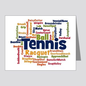 Tennis Word Cloud Note Cards