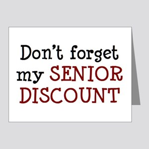 senior discount Note Cards (Pk of 10)