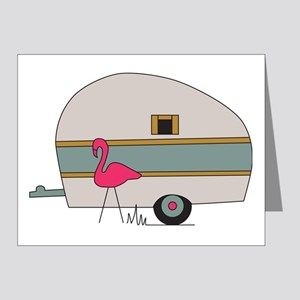 Camper with Flamingo Note Cards (Pk of 10)
