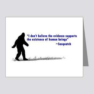 Sasquatch Quote - Note Cards (Pk of 10)