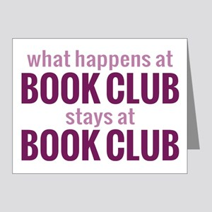 What Happens at Book Club Note Cards (Pk of 10)