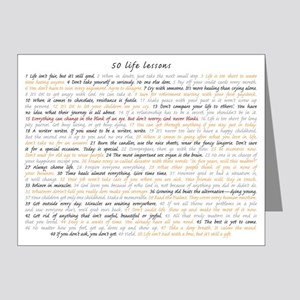 All 50 Life Lessons Note Cards (pk Of 10)
