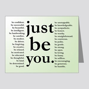 Just Be You Note Cards
