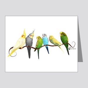 Parakeets & Cockatiels Note Cards
