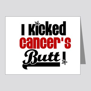 Kicked Cancer's Butt Note Cards (Pk of 10)