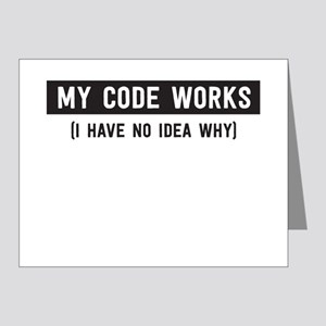 My code works no idea why Note Cards
