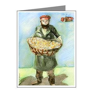 Bagel Man Note Cards Pk Of 10