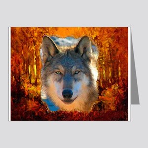 Gray Wolf Face Note Cards (Pk of 10)