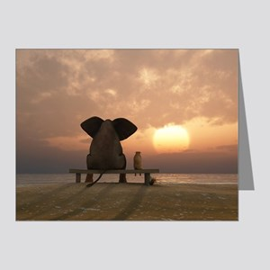 Elephant and Dog Friends Note Cards (Pk of 10)