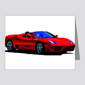 Red Ferrari - Exotic Car Note Cards