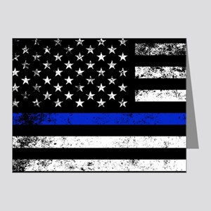 Horizontal style police flag Note Cards