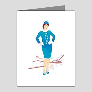 Flight Attendant 1 Note Cards (Pk of 10)