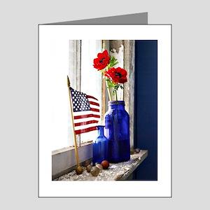 Patriotic Flowers Note Cards (Pk of 10)