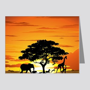 Wild Animals on African Sava Note Cards (Pk of 10)