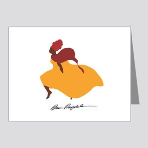 Africa Lady c Burgundy Scarf Note Cards