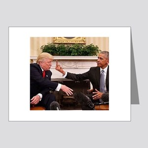 barack obama giving donald trump the mi Note Cards