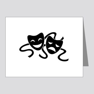 theatre masks Note Cards (Pk of 10)