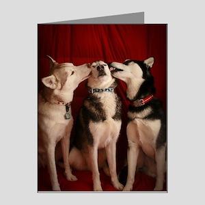 Kissing Huskies Note Cards (Pk of 10)