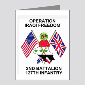 ARNG-127th-Infantry-Iraq-Mou Note Cards (Pk of 10)