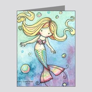 aceo cutie mermaid 2 Note Cards (Pk of 10)