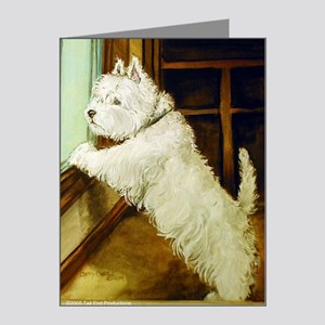 Waiting Westie Note Cards (Pk of 10)
