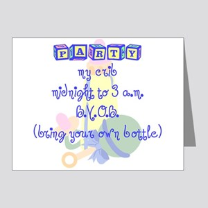 Party at My Crib Note Cards (Pk of 10)