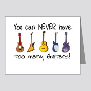 Too many guitars Note Cards