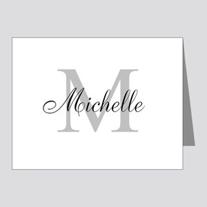 Personalized Monogram Name Note Cards