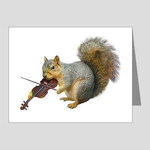 Squirrel Violin Note Cards (Pk of 10)