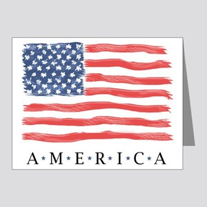 BLANK American flag Cards / July 4th Invitations