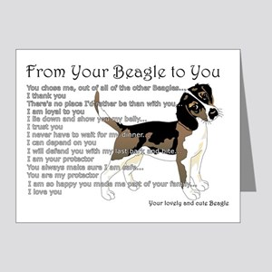 A Beagle's Letter To You Note Cards