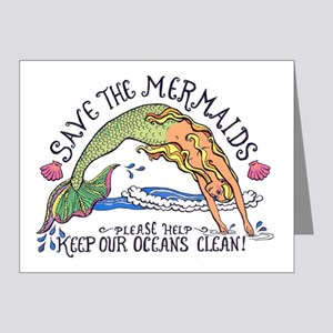 Save the Mermaids Note Cards (Pk of 10)