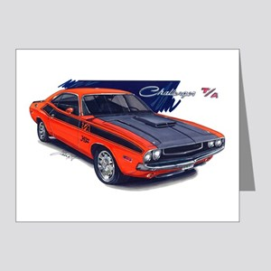 Dodge Challenger Orange Car Note Cards (Pk of 10)