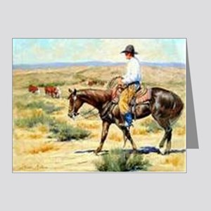 Cowboy Painting Note Cards (Pk of 10)