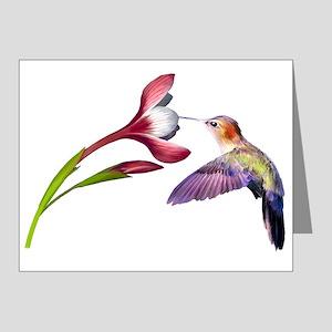 Hummingbird in flight Note Cards (Pk of 10)