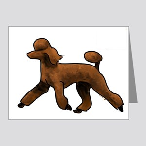 red poodle Note Cards
