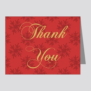 Thank You (Snowflakes) Note Cards