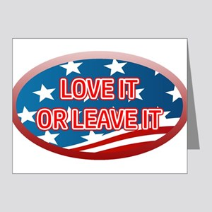 LOVE IT OR LEAVE IT! AMERICA Note Cards (Pk of 10)