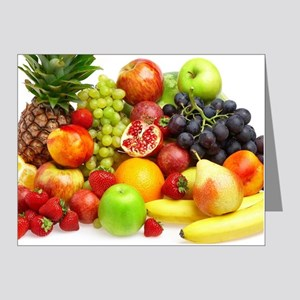 Mixed Fruits Note Cards (Pk of 10)